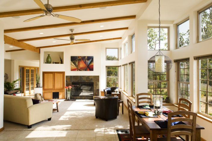 Interior of Solar Home